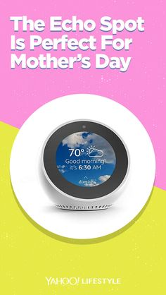 Echo Spot - Smart Alarm Clock with Alexa - White Shopping Lists, Weather Forecast, Tech Gifts, Watch Video, Music Lyrics, The Voice, Audiobooks, Hands, Amazon