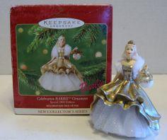 Hallmark Keepsake Ornament; Celebration Barbie. 2000.