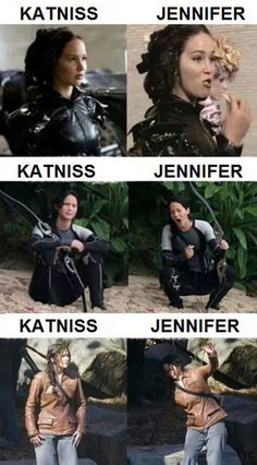 The difference between Jennifer Lawrence and Katniss… Love Jennifer Lawrence!