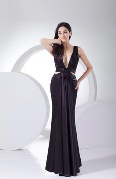 Sexy Elastic Satin Party Gowns - Order Link: http://www.theweddingdresses.com/sexy-elastic-satin-party-gowns-twdn7588.html - Embellishments: Paillette , Sequin , Ruching; Length: Floor Length; Fabric: Elastic Satin; Waist: Natural - Price: 141.99USD