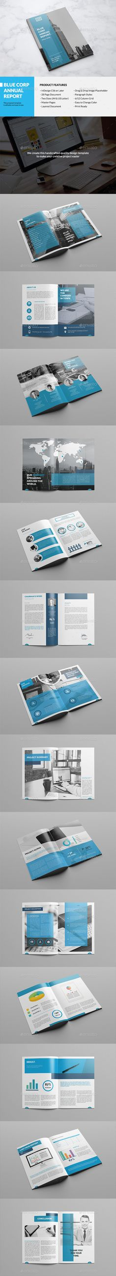 Annual Report Clean And Modern Square Brochure Annual - Indesign templates brochure