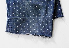 polka dotted denim DIY by AMM blog, via Flickr