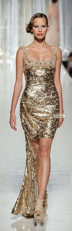 Tony Ward Gorgeous Gold Cocktail Dress