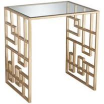 Zarah Gold Mirror Top Accent Table @ 55downingstreet.com