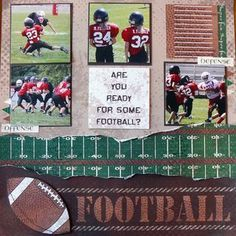 Image result for football scrapbook layouts #scrapbooktips