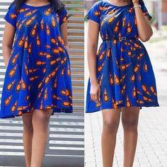Swing dress/African dress/African Print  Dress/ Circle dress/Ankara dress/Blue dress/African dress/African clothing/Ankara dress | @giftryapp