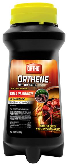 Ortho Orthene Fire Ant Killer kills the queen and destroys the mound. Watering-in is not necessary. Try not to disturb the mounds while treating. Ortho Orthene Fire Ant Killer - Treats up to 162 Mounds. Fire Ant Killers, Ant Problem, Household Pests, Fire Ants, Pest Management, Pest Control Services, Garden Guide, Ornamental Plants, Active Ingredient