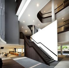 Image 7 of 16 from gallery of Christ Methodist Church / Architects. Photograph by Patrick Bingham Hall Lobby Design, Hall Design, Church Design, Staircase Architecture, Staircase Design, Interior Architecture, Staircases, Lobby Interior, Interior Stairs