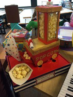 Surprise popcorn machine