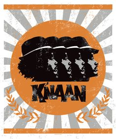 orange + gray | k'naan poster