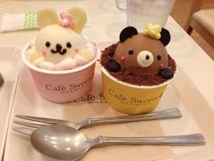 Find images and videos about food, sweet and kawaii on We Heart It - the app to get lost in what you love. Cute Snacks, Cute Desserts, Cute Food, Dessert Recipes, Yummy Food, Kawaii Dessert, Milk Shakes, Japanese Sweets, Aesthetic Food