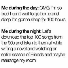 When you finally get time alone at night. #introvert
