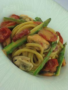 Spaghetti Kamut Cozze Asparagi - Ristorante QBDuePuntoZero- Salò