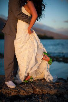 SHOES - Photography: Kaua Wedding Photography - kauaweddingphotography.com Planning + Coordination: Tropical Maui Weddings - tropicalmauiweddings.com Floral Design: Lois Hiranaga Floral Design - loismauigirl.com  Read More: http://stylemepretty.com/2012/11/14/maui-wedding-at-olowalu-plantation-house-from-kaua-wedding-photography/