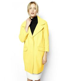 @Who What Wear - ASOS Textured Coat ($158) in Yellow