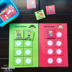 This is a great activity to help teach classroom and behavior expectations. Comes in four different versions: color, black and white (printer friendly), boardmaker icons and errorless. Teaching Special Education, Help Teaching, Behavior Management, Classroom Management, Black And White Printer, Behavior Interventions, Classroom Games, Task Boxes, Teacher Tools