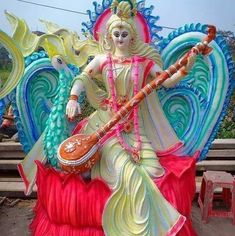 Saraswati Murti, Saraswati Idol, Saraswati Goddess, Durga Images, Ganesh Images, Mahakal Shiva, Shiva Art, Republic Day Images Pictures, Ganesh Bhagwan