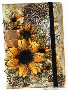 Heartfelt Creations | Sunflowers Altered Book by Susan Smit http://sussipoppins.blogspot.nl/