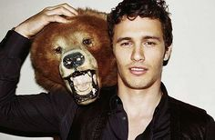 James Franco. With a bear head. How attractive is that?