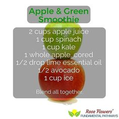 I love green smoothies!!! This is an awesome recipe that incorporates these amazing essential oils!! Mmmm...delish!!  #essentialoils #recipe