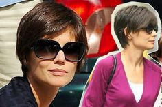 Short Hairstyle Pixie Crop Hairstyle From Katie Holmes