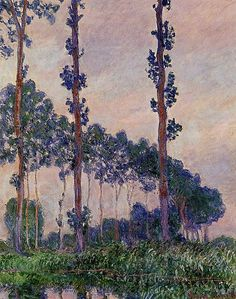 (France) Poplars (in grey weather) by Claude Monet (1840-1926). Oil on canvas.