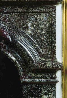 Large fireplace in Green and Red Levanto marble in the Antechamber Dogs at Versailles Palace. Architectural Antiques, 12th Century, Marbles, Versailles, Palace, Bronze, Green, Dogs, Decor