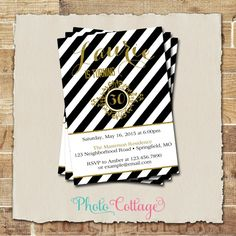 Invitación de cumpleaños 30 brillo oro invitación por PhotoCottage