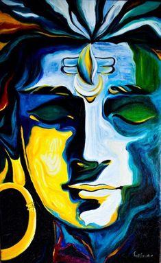 Ganesha Painting, Lord Shiva Painting, Buddha Painting, Buddha Art, Ganesha Drawing, Arte Shiva, Shiva Art, Hindu Art, Oil Pastel Art