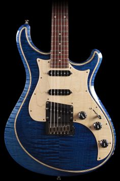 Knaggs Guitars Severn Tier 2 in Double Blue with Double Purfling