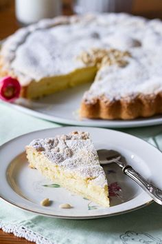 La tarta de la abuela. Torta della nonna, receta italiana | https://lomejordelaweb.es/