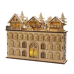 Oh my! This Kurt Adler LED Wooden Advent Calendar Decoration is just divine!