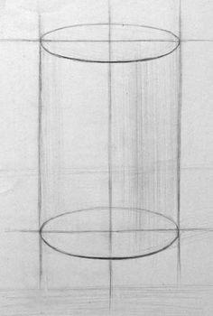 Цилиндр. Построение эллипсов. Still Life Sketch, Still Life Drawing, Basic Sketching, Basic Drawing, Geometric Drawing, Geometric Shapes, Pencil Drawings, Art Drawings, Sofa Drawing