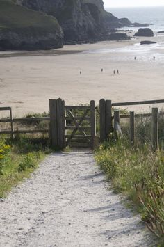 Heading down to the beach - Mawgan Porth, north Cornwall, England. British Beaches, Cornwall Beaches, Devon And Cornwall, North Cornwall, British Countryside, To Infinity And Beyond, Landscape Photos, Beautiful Beaches, Wonderful Places