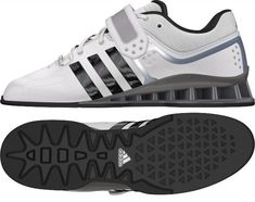 a32225803f3 New White Adidas AdiPower Weightlifting Shoes Olympic Weightlifting Shoes