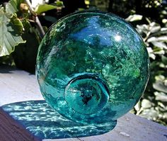 Glass fishing float.