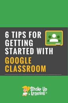 Ready to get started with Google Classroom? Here are 6 tips for teachers! | shakeuplearning.com Learning Resources, Teaching Tools, Teacher Resources, Classroom Resources, Instructional Technology, Educational Technology, Formative Assessment Tools, Library Activities, School Closures
