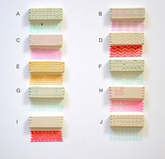 Washi tape stamps / Hand Carved Rubber Stamp