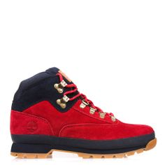 $150.00 10 DEEP x Timberland Nomads (Red) Item Description: 10 DEEP has partnered with Timberland for our first special project of 2014. Dubbed the Nomad, its our retake on Timberland's classic Euro Hiker boot. It comes in premium suede with 15% recycled rubber outsoles, steel arch supports and ripstop collar. Style # 41TD6301