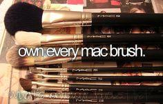 Own every Mac Brush, please?