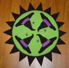 Primitive Witch Hat Penny Rug Candle Mat Pattern | eBay