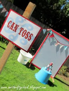 fall festival can toss - a simpler set up than I'd like... but still cute!