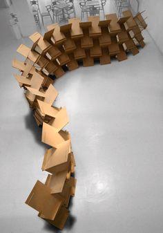 Paper Architecture, Pavilion Architecture, Concept Architecture, Architecture Design, Paper Structure, Modular Structure, Karton Design, Module Design, Cardboard Design