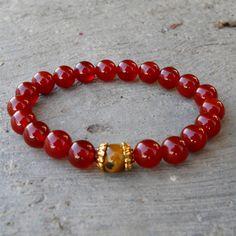prosperity and stability - Carnelian and Tiger's eye genuine gemstone – Lovepray jewelry