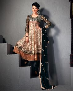 Magnificient Brown Salwar Kameez  http://www.gravity-fashion.com/9336-magnificient-brown-salwar-kameez.html    £85.42