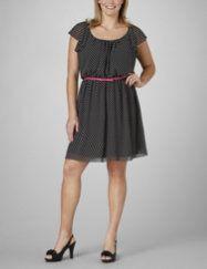 Cute dress with lots of ruffles and polkadots. fashionbug.com
