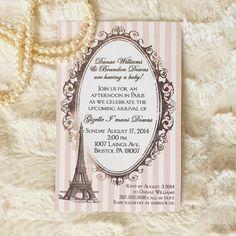 Paris French Eiffel Tower Baby Shower by DelightfulEventsInc