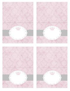 FREE printable princess nametags/food labels!