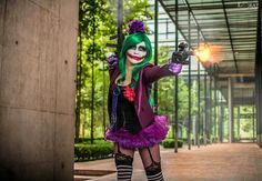 Female Joker. Cosplay by YuganaSenshi@Ann Wong
