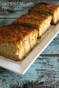Oatmeal Cake with Maple Glaze | Bread Booze Bacon